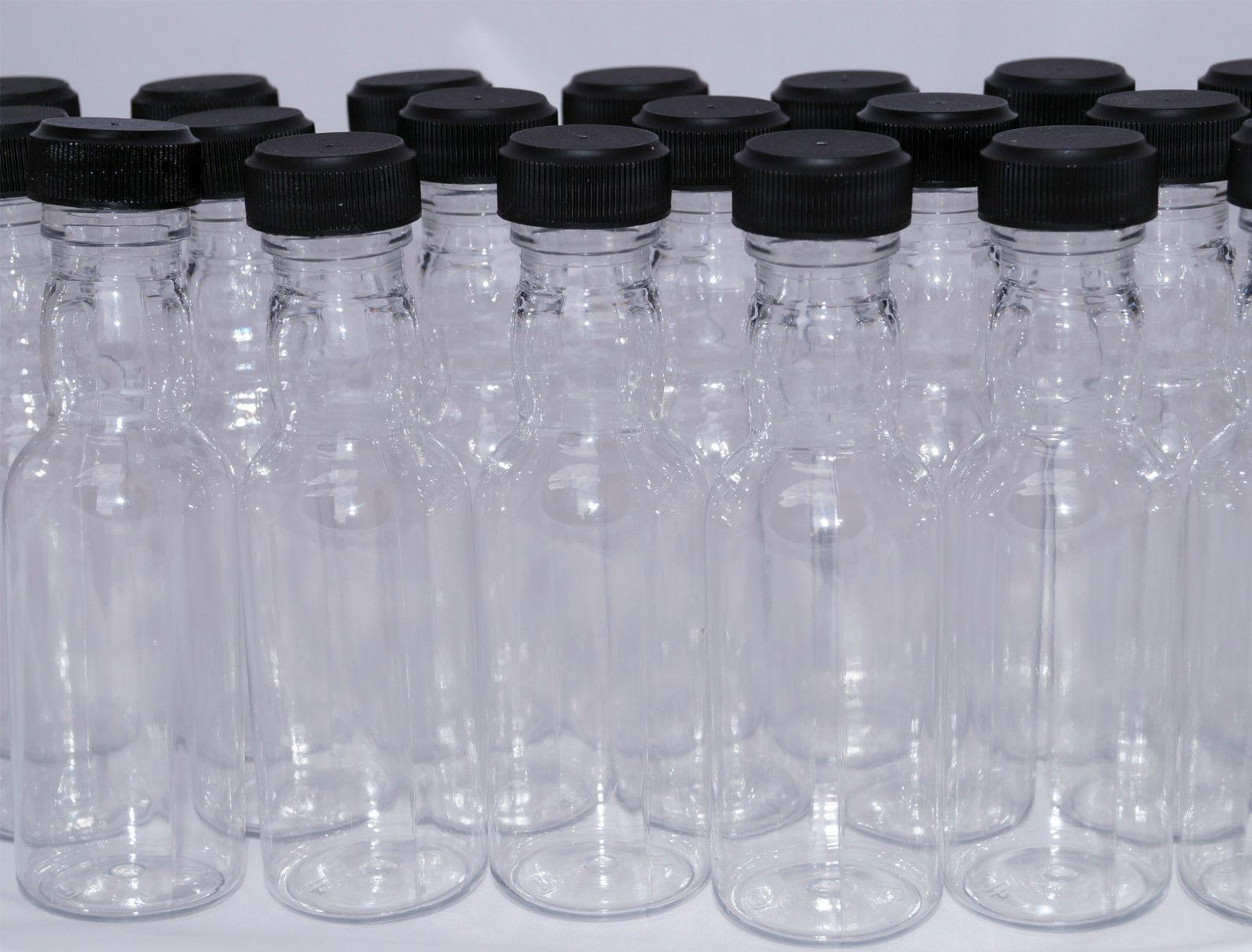 125 x high quality empty clear plastic miniature spirit for Empty mini plastic wine bottles